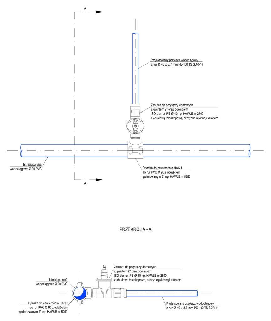 Przyłącze wodociągowe - schemat 01