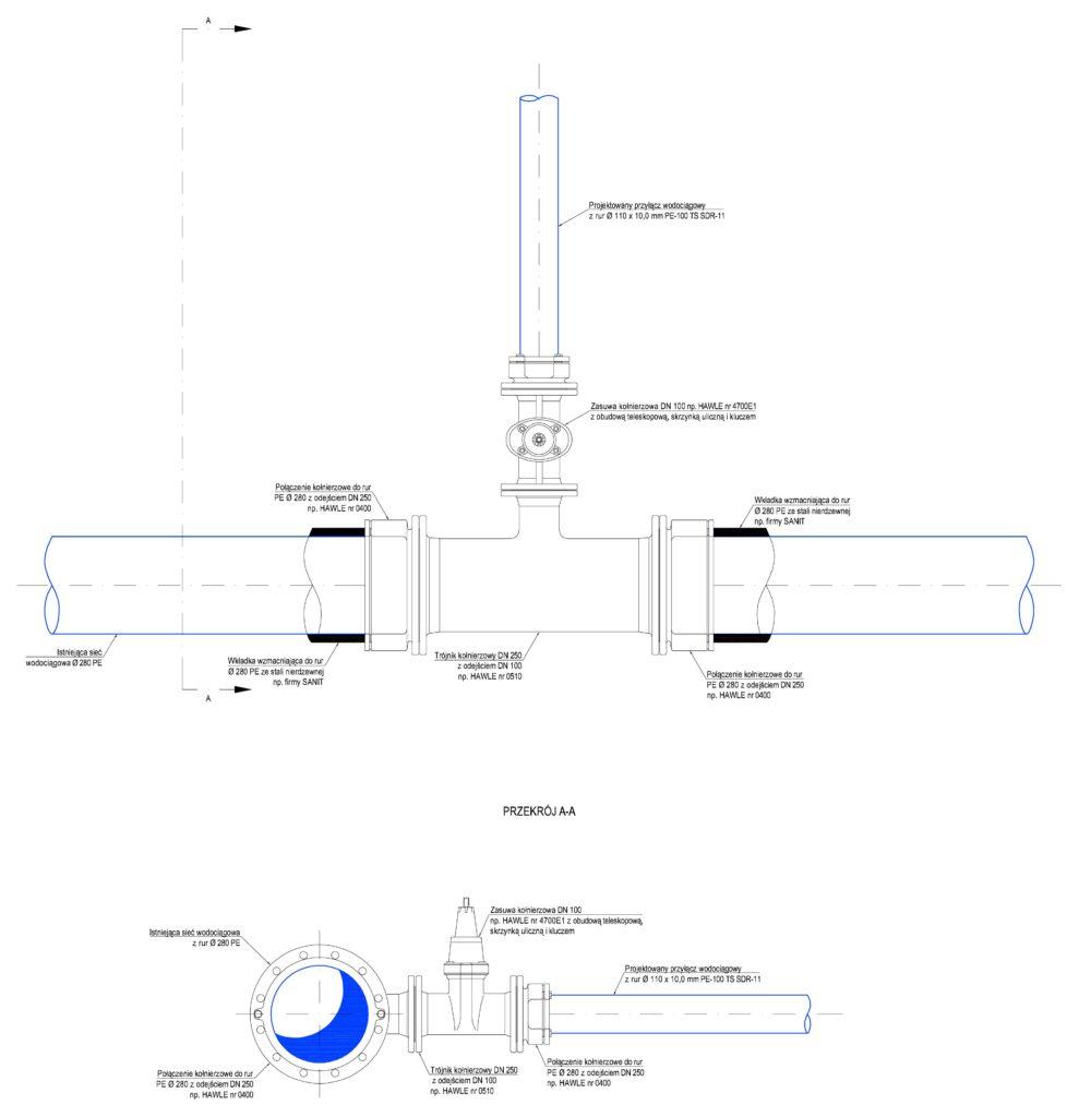 Przyłącze wodociągowe - schemat 04